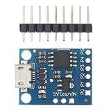 CZYU® Blue Black Tiny85 Digispark Kickstarter Micro Development Board Attiny85 Module Fit para Arduino IIC I2C USB (Color : Blue Micro USB)