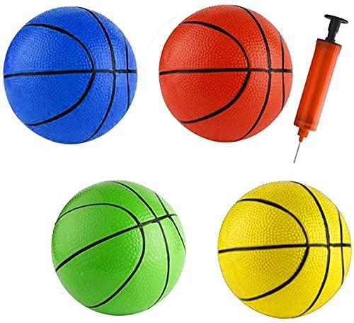 16 CM Strand Kleine Basketball Hüpfbälle Kleinkinder Gummi Sport Spielzeug Basketbälle für Pool Kinder Baby Jungen Mädchen Erwachsene Schule Spielplatz Indoor Outdoor Home Office (4 STÜCKE)