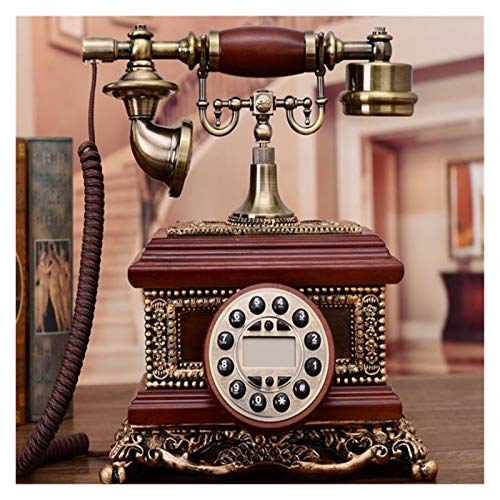 WSZMD Teléfono Pared Retro Teléfono Fijo Fijo Antiguo Teléfono Fijo con Anillo Mecánico, Altavoz Y Función De Relumbro para El Teléfono Retro Doméstico (Color : Red)