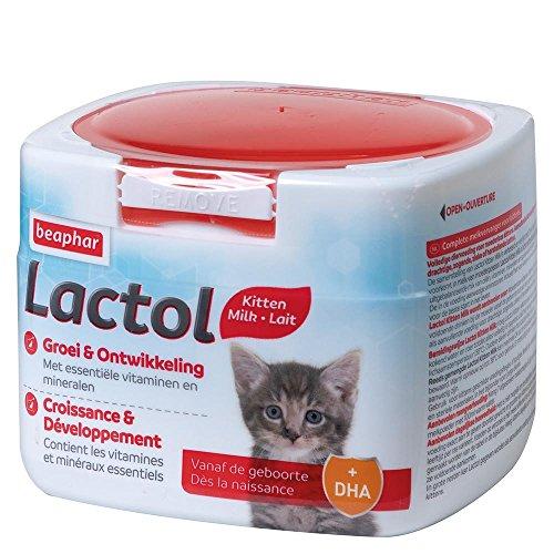 Beaphar - LACTOL - Lait maternisé pour chaton en poudre - Enrichi en DHA - Source de protéines de haute qualité - Pour chaton non sevré, femelle gestante ou allaitante et chat âgé ou malade - 250 g