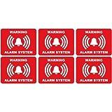 alarme logo 79 lot de 6 autocollant adhésif sticker - Taille : 4 cm