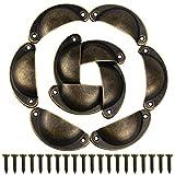 Bouton Porte Gosear 10PCS Rétro Shell Métal Poignées Coquilles Armoire à Tiroirs Poignée avec 20 Vis de Meubles...
