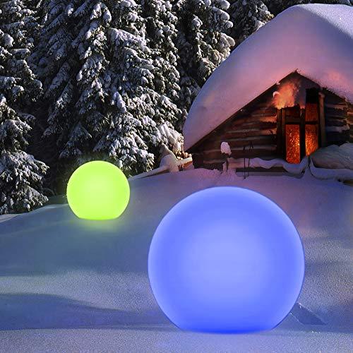 Homever Outdoor Solarlampen mit Fernbedienung, P67 Wasserdichter Solarlichtgarten mit 16 Farben und 4 Modi, wasserdicht für Garten/Pool/Party/Park