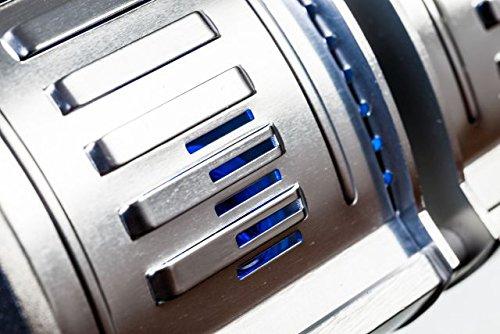 HeizMaster – 2000 IP 65 RC inkl. Fernbedienung mit Dimmfunktion Infralogic Kurzwellen – Heizstrahler für Indoor und Outdoor geeignet, silber - 4
