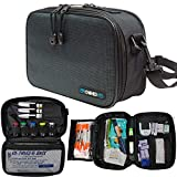ChillMed® Elite - Weekly Diabetic Travel Case - Insulin Pen & Glucose Meter Organizer with Reusable Ice Pack - Up to 14 Hours of Cool Time (Slate)
