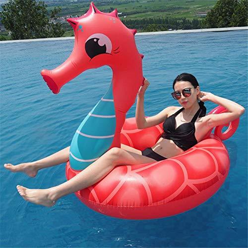 jaspenybow Flotador de Piscina, sillas de Piscina, Caballito de mar Inflable, Gran Anillo de natación, Fila Flotante, Juguetes de Agua de Verano, sillón, para Vacaciones en la Playa, Piscina