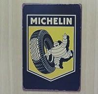 ミシュラン タイヤ 金属製 メタルサインプレート ビバンダム MICHELIN TIRE 看板 ブリキ アンティーク ガレージ インテリア 広告 カフェ 店舗備品