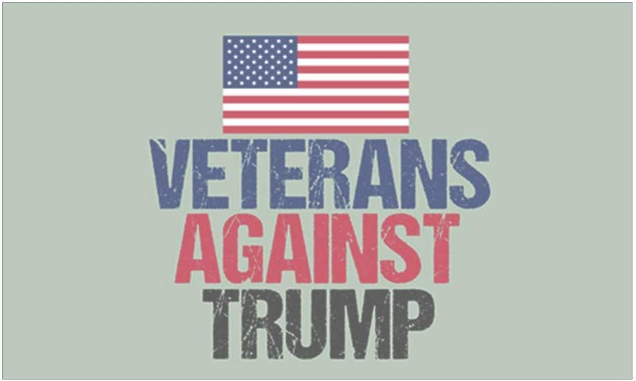 Wholesale Lot of 6 Veterans For Trump Red White Blue Decal Bumper Sticker