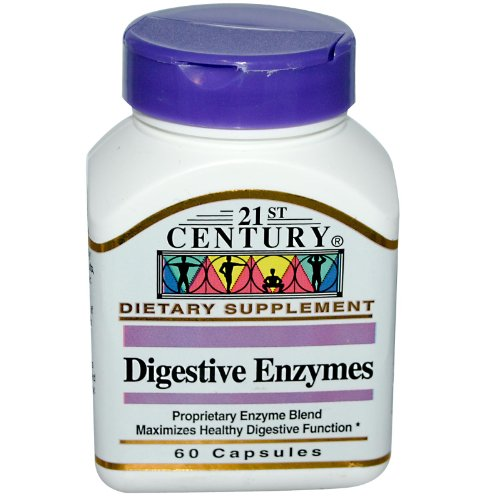 21st Century Digestive Enzymes 60 Caps by 21st Century HealthCare