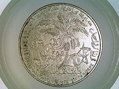 Münze Tunesien 1 Dinar 1970 F.A.O, Silber