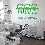 Ajcwhml Soins Dentaires Sticker Mural Clinique Dentaire Vinyle Sticker Amovible Magasin Dentaire Décoration Citation Détachable Fenêtre Decal 57x36cm