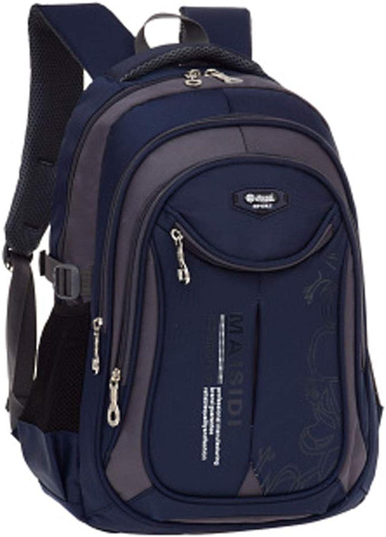 Qiyuezhuangshi School Bag, Student Bag, Shoulder UltraLight Backpack, Suitable for Grade 16 Students, Multicolor Optional, 26  16  40cm Exquisite (color   Royal blueee, Size   28  18  45cm)