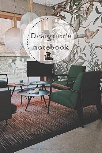 designer's notebook: carnet ligné , pour les designers lover , Notebook à offrir  120 pages 6x9 pouces