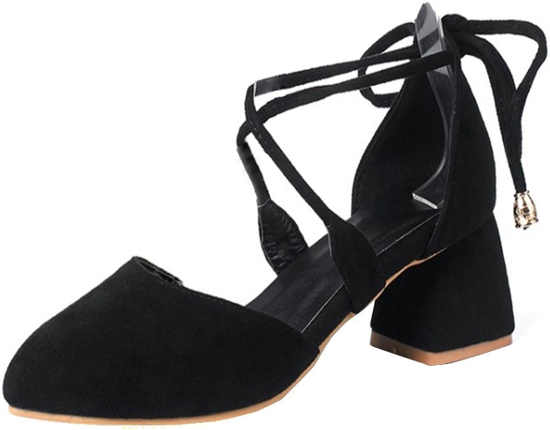 FizaiZifai Women Summer Chunky Heels Sandals
