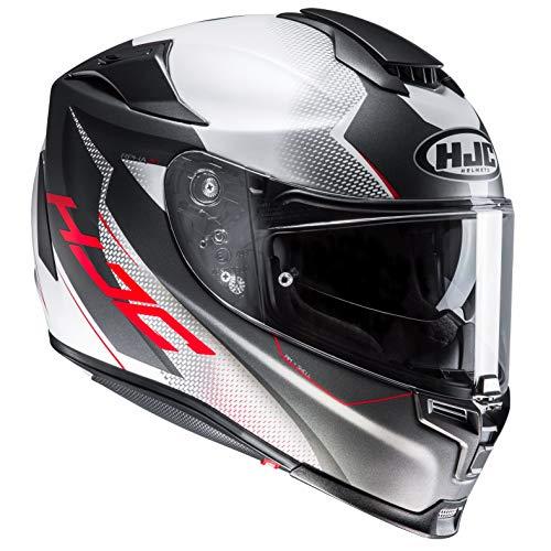 HJC Helmets Motorradhelm RPHA 70 Gadivo MC10SF, Schwarz/Weiß/Rot, Größe M, 2425_25603, noir/blanc/rouge