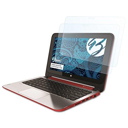 Bruni Schutzfolie kompatibel mit HP Pavilion 11 x360 Folie, glasklare Bildschirmschutzfolie (2X)