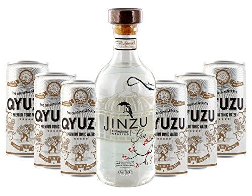 Lieferello - Jinzu Gin und Qyuzu Tonic Water Set 41,3{f7cb2dcfcbf9eac7e4550158f30d839c3766108356b8a52fb12c5ae7dba50e79} Vol. - 7-teilig/1St inkl. Pfand