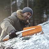 Fiskars Auto-Eiskratzer und Schneebürste, Auseinandernehmbar, Kunststoff/Silikon, Weiß/Orange, SnowXpert, 1019352 - 6