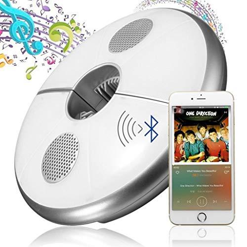QFFL Luces de Sombrilla de Patio, con Altavoz Bluetooth, Luz de Parasol Inteligente con Carga USB, 7 Colores Cambiantes, Lámpara de Tienda para Jardín de Camping