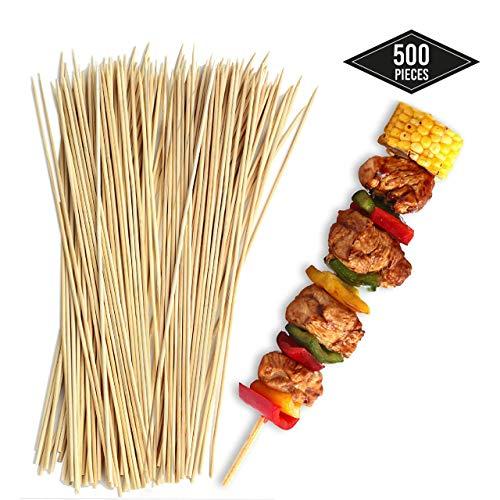 matana 500 Schaschlikspieße, Holzspieße 15cm, 100% Bambus - Sicher, Zuverlässig & Langlebig - Perfekt für Grill, BBQs, Kebabs, Fingerfood, Grillspieße, Sommer Partys Grillfeste.