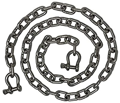 """Rainier Supply Co 316SS Anchor Chain - 6' x 5/16"""" and 4' x 1/4"""" Sizes - Premium Marine Grade 316SS Boat Anchor Chain with Oversized Shackles - Boat Accessories - Stainless Steel"""