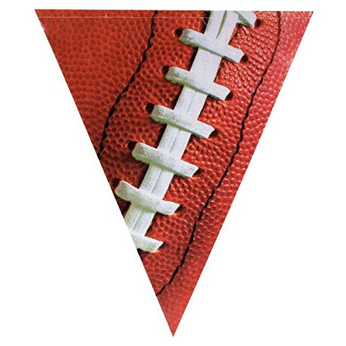 Amscam 129874 Football Plastic Pennant Banner, Party Decoration,Multicolor
