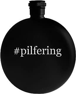 #pilfering - 5oz Hashtag Round Alcohol Drinking Flask, Black