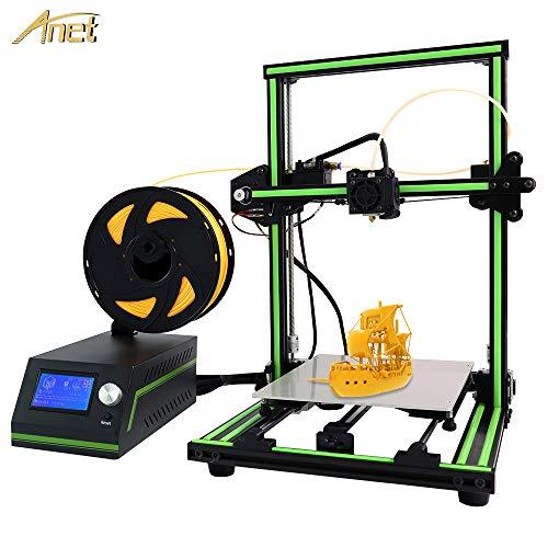 Anet E10 Desktop 3D Printer Aluminum Frame High Precision Reprap 3D Printer DIY Kit Off-line Printing Free 10m Filament