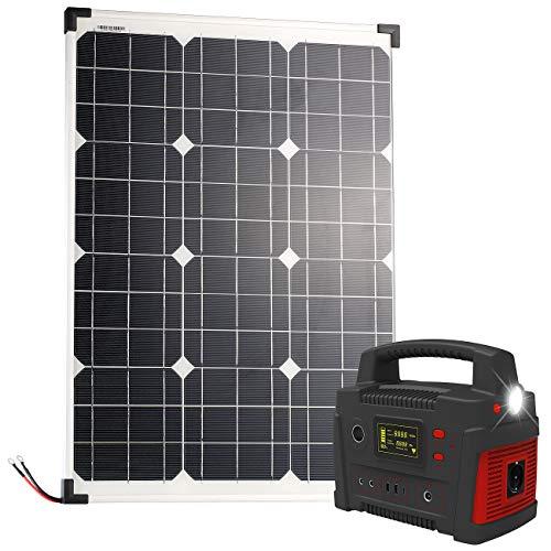 reVolt Solar Strom: Powerbank & Solar-Konverter mit mobilem 50-Watt-Solarpanel, 114 Ah (Powerbank 12V Solar)