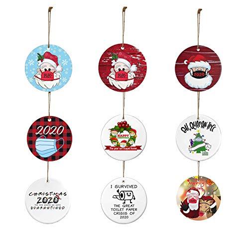 Shirt Luv 2020 Christmas Ornaments Friends Gift Holiday Decor Santa Hat Xmas Tree Decorat