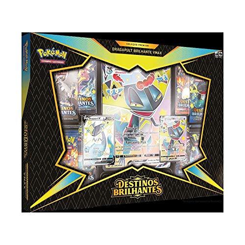 Box Coleção Premium Pokémon Estampas Ilustradas Destinos Brilhantes Dragapult Vmax, pkm