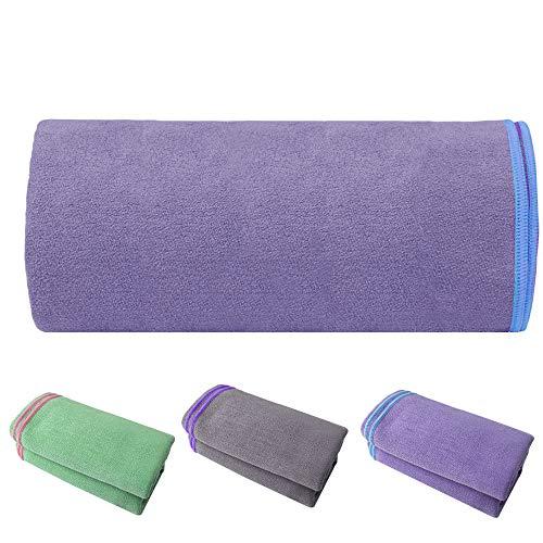 EXCO Toalla de Yoga, Gamuza Súper Absorbente de Microfibra, Súper Suave, Secado Rápido, Ideal para Yoga,Pilates, Bikram y HotYoga(183x63x0.2cm)