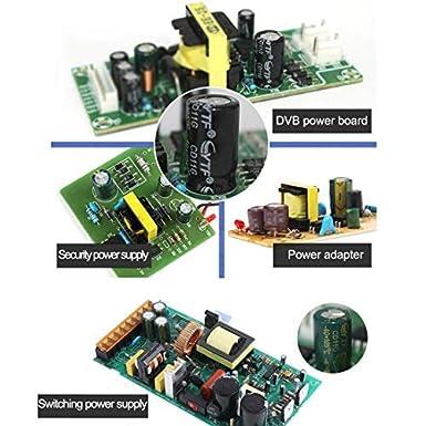 Tnisesm 150Pcs Electrolytic Capacitor 22uF 25V with Aluminum Radial Leads 22UF-25V-4X7