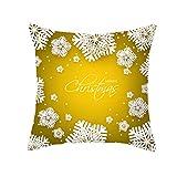 Xuthuly Weihnachten Kissenbezug Glitter Polyester Sofa Dekokissen Cover Home Decor