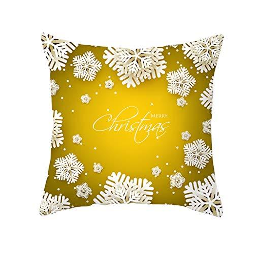 Zegeey Weihnachten Kissenbezug Weihnachtsschmuck WeihnachtskissenbezüGe Weihnachtlichen Motiven Wohnkultur Dekorative KissenhüLle FüR Festliche Hausdekoration Und Wohnzimmer Akzent(A4,45x45cm)