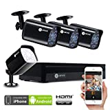 Anni 4CH Home Security Camera System,1080N HD AHD DVR and (4)