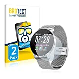 BROTECT Schutzfolie kompatibel mit TagoBee Fitness Tracker TB11 (2 Stück) klare Displayschutz-Folie