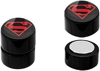 BodyJewelryOnline Acrylic Magnetic Superman Faux Ear Plugs - Pairs!