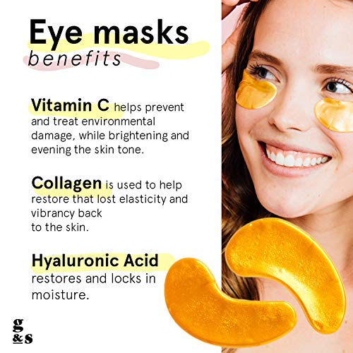 51UA6BwnjOL - Grace & Stella Collagen Eye Masks 24K Gold Hydrogel Anti-Aging Under Eye Patches, Treatment for Puffy Eye Bags, Dark Circle Wrinkles Pads, Improve Elasticity Elimiate Tiredness Puffiness (12 Pairs)