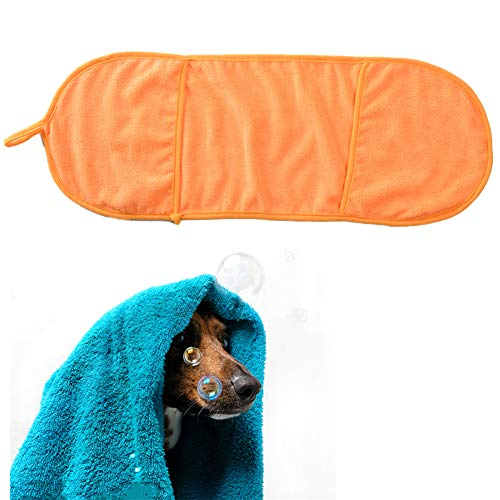 HEELPPO Toalla De Microfibra Toalla De Secado RáPido Qué Toalla para Mascotas Accesorio De BañO para Mascotas Adecuado para Perros PequeñOs Orange