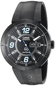 Oris TT1 Williams F1 Team Day Date Men's Black Rubber Strap Automatic Watch 73576514765RS