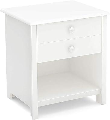 Amazon.com: Basic individual cajón mesita de noche con ...