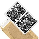 Impresionante pegatinas rectangulares (juego de 2) 10 cm – Baterías retro para portátiles, tabletas, equipaje, libros de chatarras, neveras, regalo genial #38896.