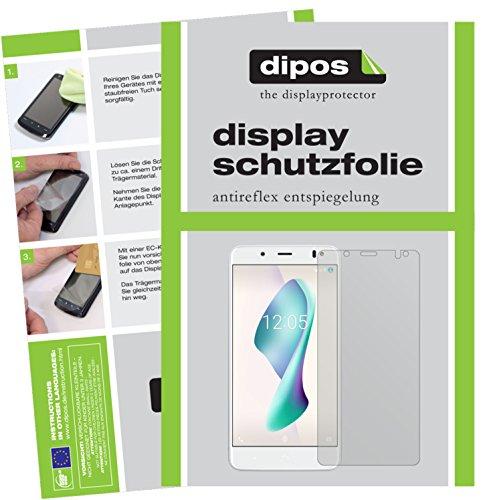 dipos I 6X Schutzfolie matt kompatibel mit BQ Aquaris VS Plus Folie Bildschirmschutzfolie