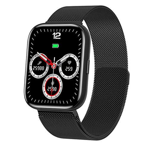 QFSLR Smartwatch, Reloj Inteligente Mujer Hombre con Oxigeno(Spo2), Monitor De Presión Arterial Contador Caloría Pulsómetros Pulsera Actividad Inteligente para Android Y iOS,Negro