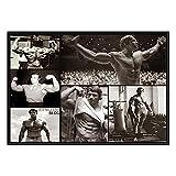 Arnold Schwarzenegger Negro Y Blanco Poster Culturismo Inspirador Lienzo Pared Arte Gimnasio Niños Dormitorio Decoracion Gimnasio Cuadro 40x60cmx1 No Marco