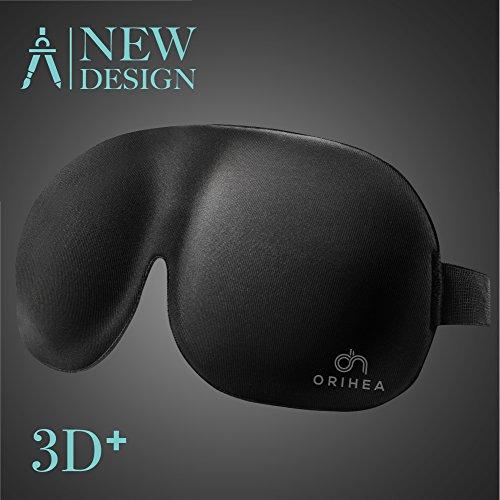 OriHea Schlafmaske, absolute Dunkelheit Schlafbrille,3D PLUS große Augenmaske, Augenabdeckung Augenbinde, mehr Platz für die Augen, festere Passform auf Ihrer Nase - für Damen & Herren