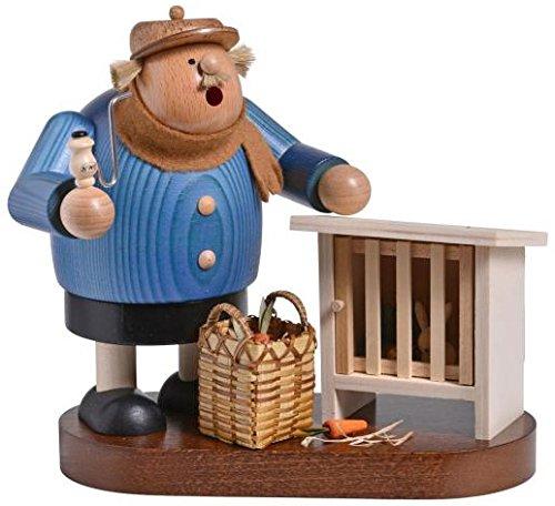 KWO Chubby Bunny Rabbit Breeder German Wood Christmas Incense Smoker Germany
