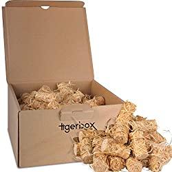 Pack of 100 Wood Wool & Beeswax Natural Firelighters