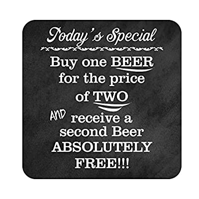 BANNER BUZZ MAKE IT VISIBLE Patio Signs Decor - Cool Beer Signs Menu Hanging Funny Metal Outdoor Party Sign